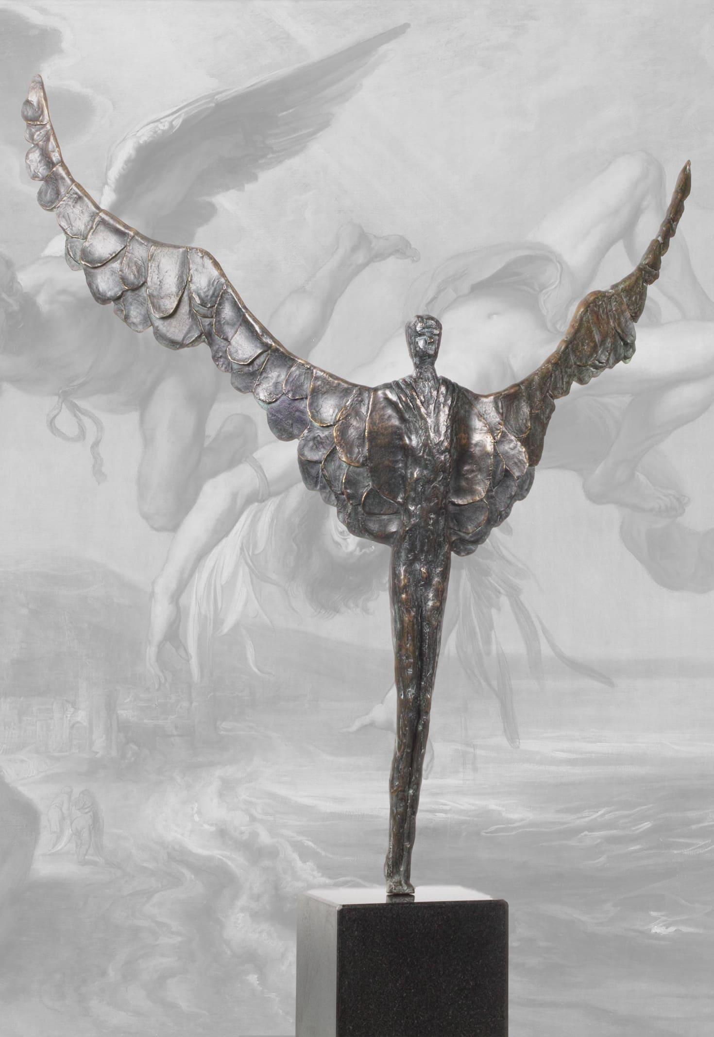 Bronze-Skulptur-Ikarus