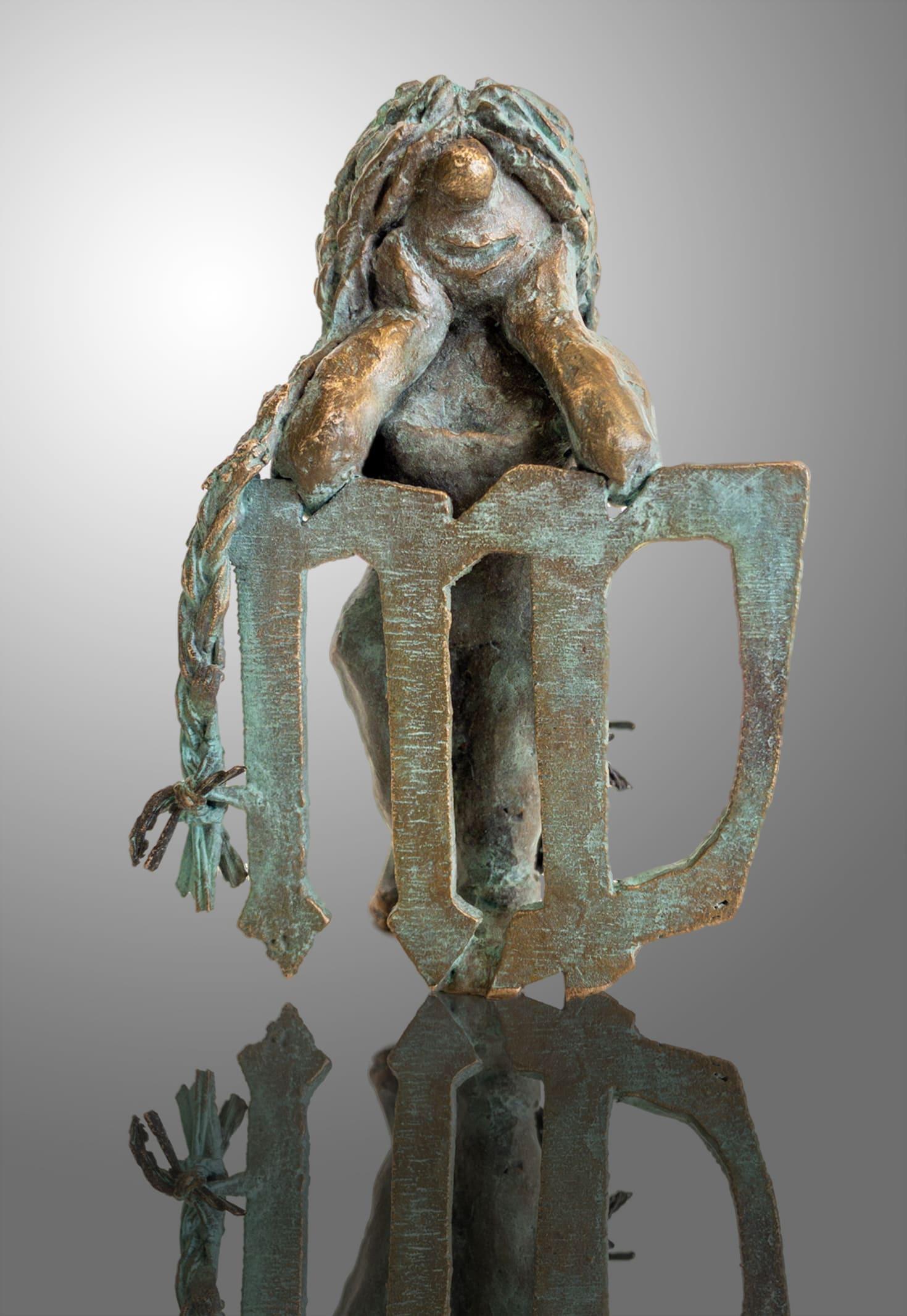 Bronze Skulptur-Sternkreiszeichen-Jungfrau