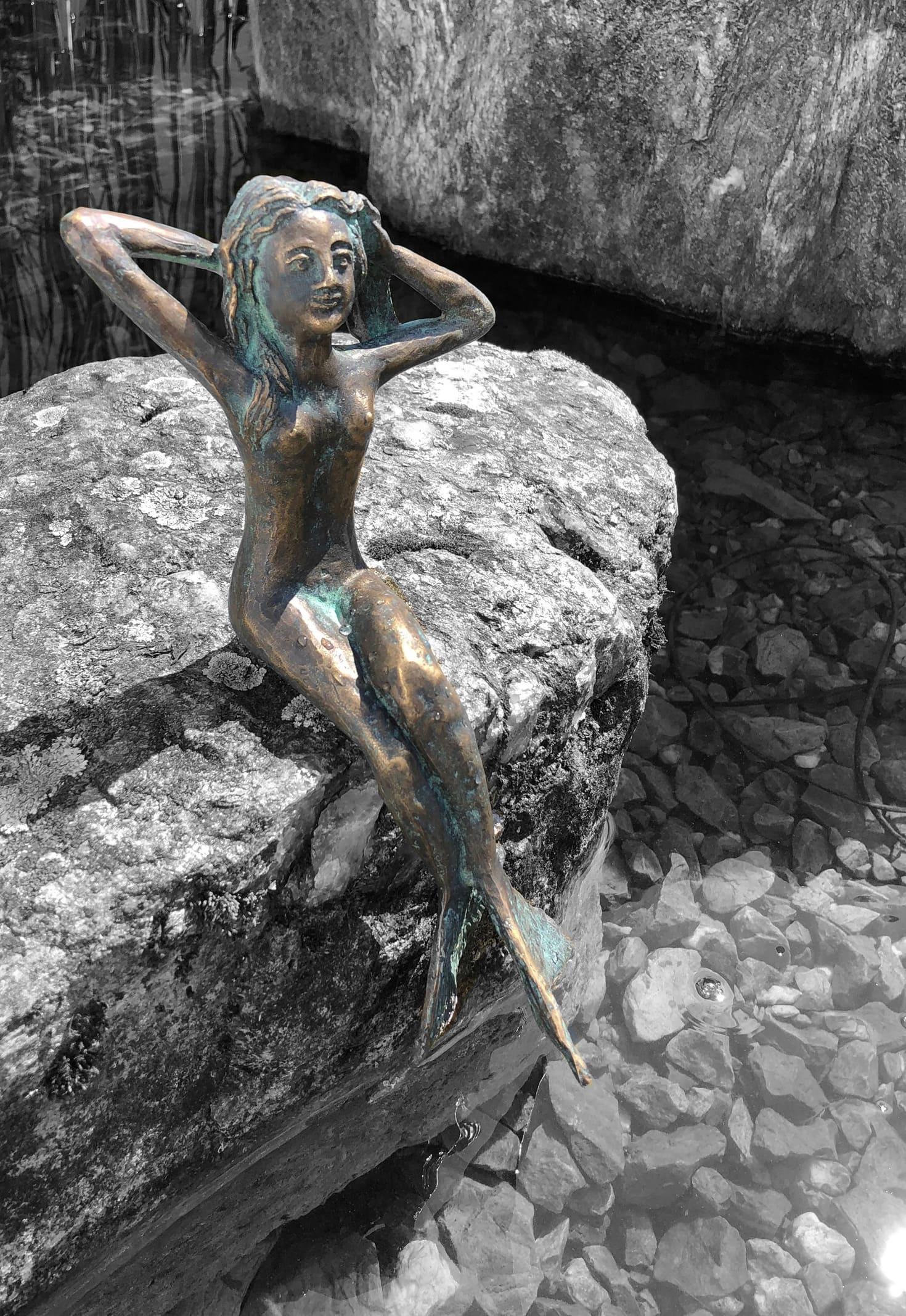 Meerjungfrau-Skulptur