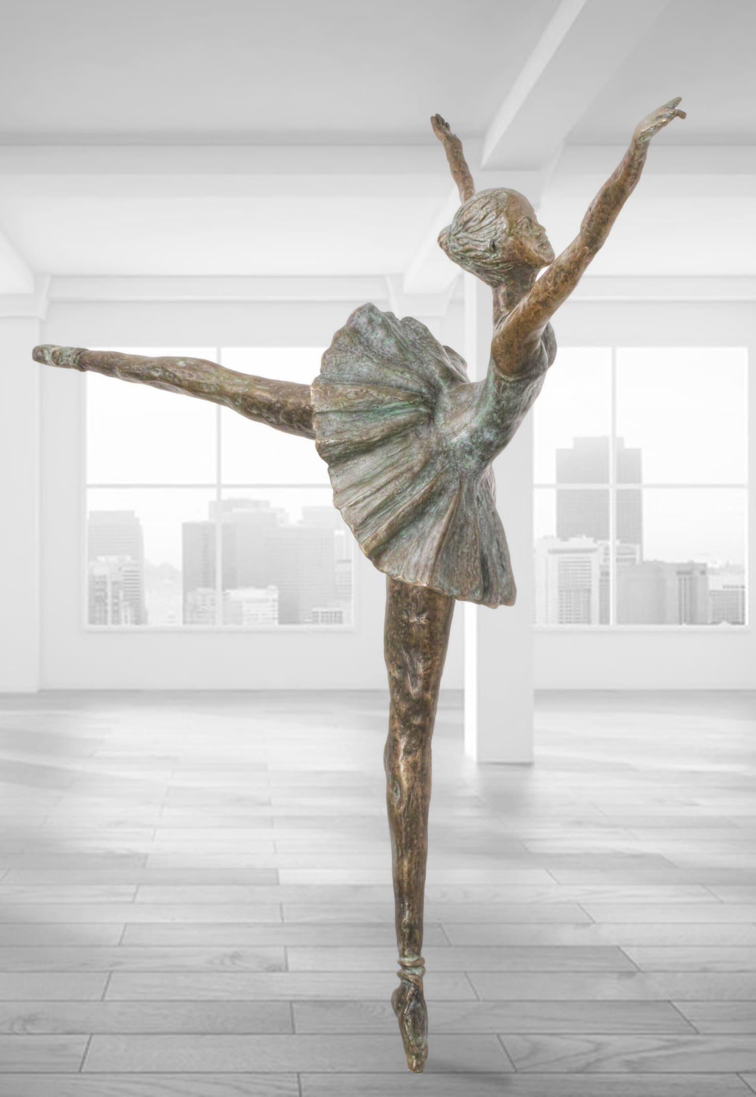 Tänzerin-Bronze-Skulptur
